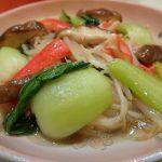 簡単常備菜レシピ。時短かにかま青梗菜の中華あんかけ