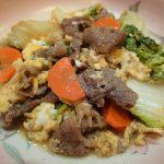 定番常備菜レシピ。牛肉のすき焼き風煮込み