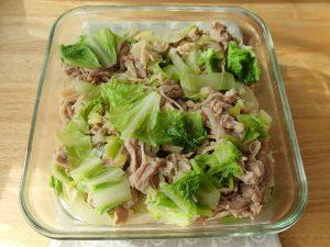 定番常備菜レシピ。ねぎ塩豚の白菜いため