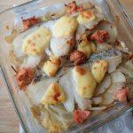 魚の簡単常備菜。タラとタラコの味噌マヨグラタン