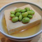 定番常備菜レシピ。高野豆腐と枝豆のふくめ煮