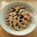 レンジで簡単レシピ。梅のりれんこん