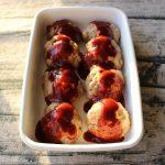 レンジで簡単お弁当におすすめの常備菜レシピ。ふわふわデミチーズハンバーグ