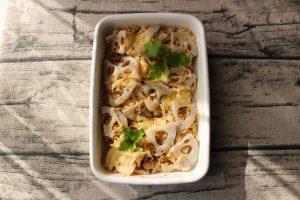 レンジで簡単お弁当におすすめの常備菜。れんこん切干大根のツナマヨグラタン