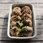 レンジで簡単お弁当におすすめの常備菜レシピ。きのことネギの和風ハンバーグ