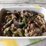 レンジで簡単お肉の常備菜レシピ。豚なすピーマンの味噌いため