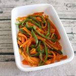 人気のおすすめ常備菜レシピ。にんじんとピーマンのナムル