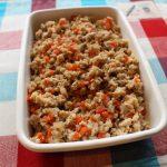 レンジで簡単お弁当の常備菜。鶏ごぼうそぼろ