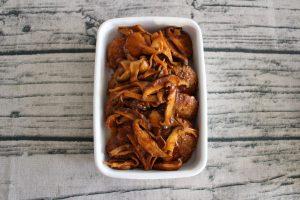 きのこの煮込みハンバーグの人気レシピ。お弁当の作り置き常備菜の作り方。