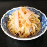 レンジで簡単常備菜レシピ。もやしとハムのサラダ
