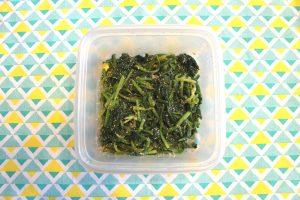 レンジで簡単常備菜レシピ。ほうれん草の明太バター