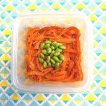 レンジで簡単常備菜。にんじんと枝豆のナムル