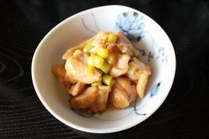レンジで簡単常備菜。鶏のねぎみそ焼き