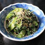 人気のすぐできる常備菜レシピ。やみつき小松菜ナムル
