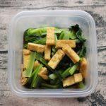 レンジで簡単定番常備菜。小松菜と油あげのおひたし
