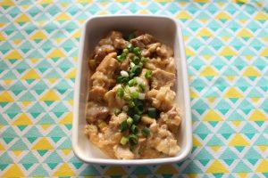 簡単お弁当おかず。鶏肉のオイマヨ炒め