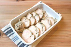 糖質オフ。ジップロックで簡単鶏ハム(サラダチキン)の作り方。ハーブチキンの再現レシピ。