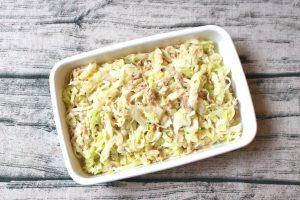 日持ちする簡単常備菜レシピ。キャベツのツナサラダ。コールスロー風