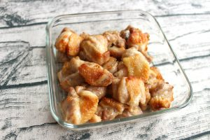 オーブンで簡単レシピ。あげない唐あげうま塩味