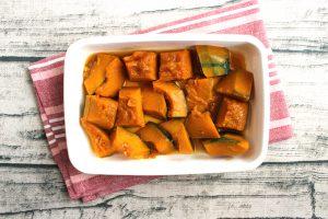 レンジで簡単常備菜レシピ。定番のほっこり味。かぼちゃの煮つけ(煮もの)