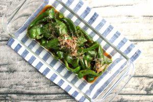 レンジで簡単常備菜レシピ。ピーマンのおかかあえ