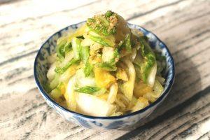 やみつき白菜ナムルの人気レシピ。大量消費OKの日持ちする作り置き常備菜。