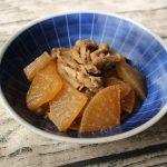 ほっこりする味。豚肉と大根のうま煮
