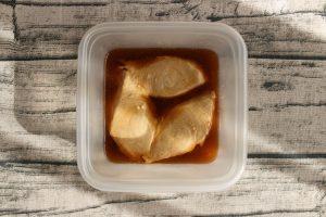 レンジで3分お弁当おかず。子供が喜ぶメカジキの甘酢煮
