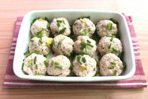 レンジで6分お弁当おかず。ねぎ塩ミートボール(肉団子)