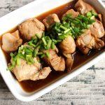 レンジでしっとり簡単レシピ。鶏ムネ肉のポン酢煮びたし