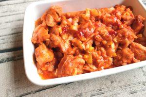 まるでエビチリ。レンジで簡単。鶏肉のチリソース