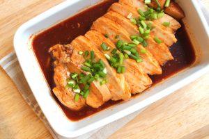 レンジで簡単ムネ肉しっとり。ピリ辛鶏チャーシュー