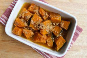 レンジで簡単ほっこり味。かぼちゃとツナの煮物