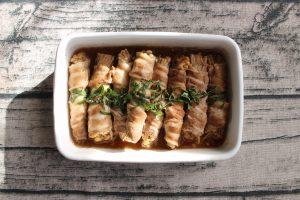包丁不要。レンジで作れる常備菜。えのきの豚肉まき