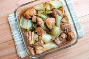 簡単コクうま味。鶏肉と白菜のうまだれ煮