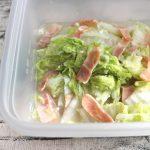 レンジで6分常備菜。白菜ベーコンのうま塩煮