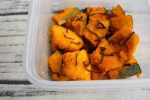 8分で作れる常備菜。かぼちゃの塩こんぶバター