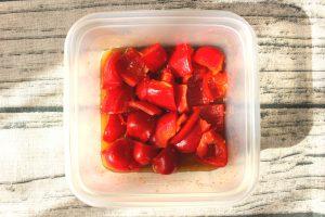 1分で作れる超簡単な常備菜。パプリカのマリネ