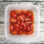 人気の簡単常備菜レシピ。ミニトマトの1番簡単なマリネ