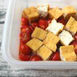 レンジで簡単。厚揚げとミニトマトの煮浸し