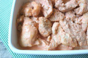 揚げないレシピ。ムネ肉やわらか簡単鶏マヨ