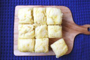 ホットケーキミックスでモチモチ豆腐蒸しパン。卵なし牛乳なしのレンジで簡単レシピ