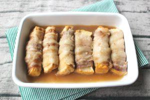 簡単お弁当の作り置き。厚揚げの豚バラ巻き
