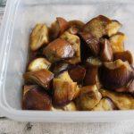 レンジで簡単常備菜レシピ。なすのてりうま煮
