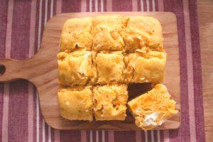 かぼちゃ蒸しパンの人気の卵なしレシピ。レンジでしっとりホットケーキミックスで簡単作り方。