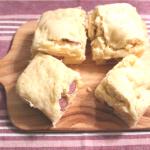 レンジでさつまいも蒸しパンの作り方。卵なしホットケーキミックスで簡単レシピ
