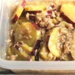 人気の簡単常備菜レシピ。さつまいもと鶏ひき肉のそぼろ煮。
