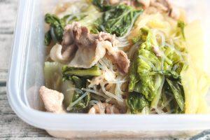 簡単つくりおき常備菜レシピ。白菜と豚肉のはるさめ煮