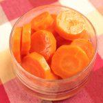 人気のレンジで時短常備菜レシピ。にんじんグラッセ。甘すぎないお弁当おかず。