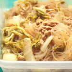 人気の簡単常備菜レシピ。ツナ白菜の春雨チャプチェの作り方。